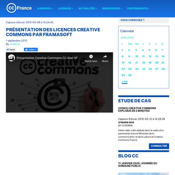 Présentation des licences Creative Commons par Framasoft