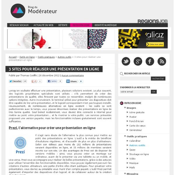3 sites pour réaliser une présentation en ligne