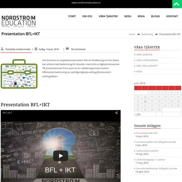 Presentation BFL+IKT – NORDSTRÖM EDUCATION