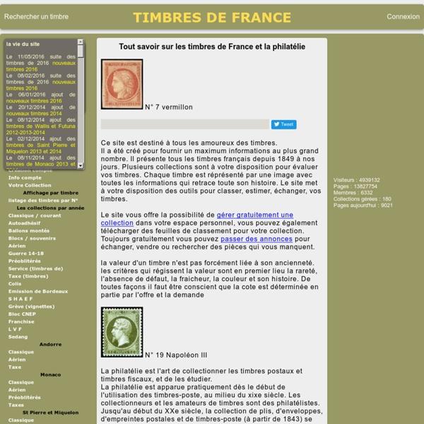 Présentation des timbres français et de la philatélie