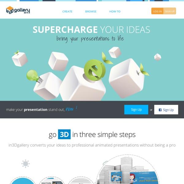 Cloud based 3D presentation tool