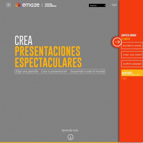 Emaze - Crea increíbles presentaciones online en minutos