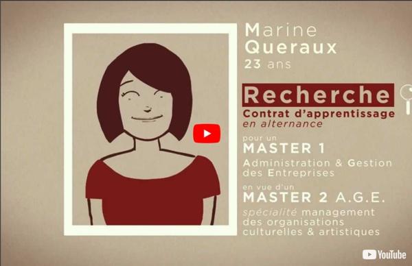 CV animé présentation Marine Queraux