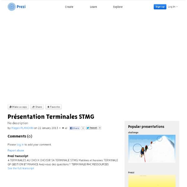 01/ Présentation 4 spécialités de Terminale STMG