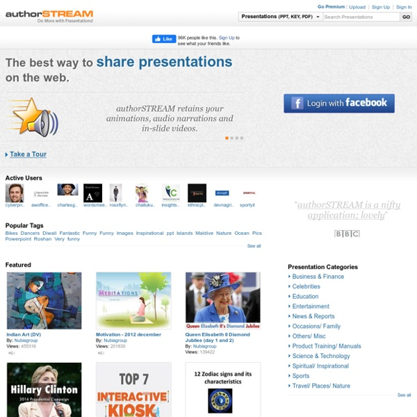 PowerPoint Presentations Online - Upload and Share on authorSTREAM