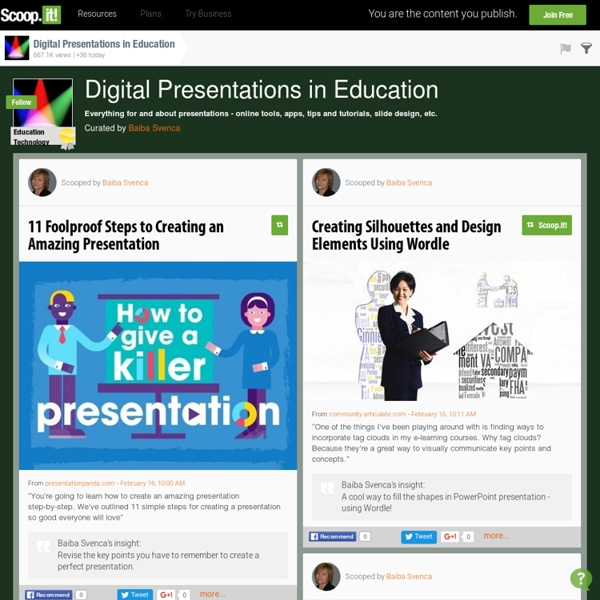 Digital Presentations in Education