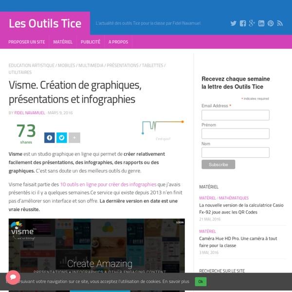 Visme. Création de graphiques, présentations et infographies – Les Outils Tice