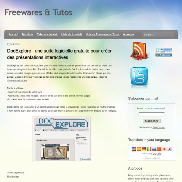 Une suite logicielle gratuite pour créer des présentations interactives