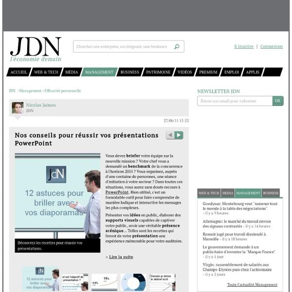 Nos conseils pour réussir vos présentations PowerPoint - Journal du Net Management
