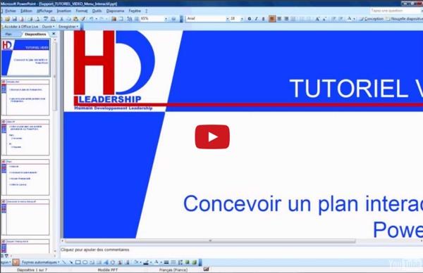 Optimisez vos présentations PowerPoint avec un plan interactif.