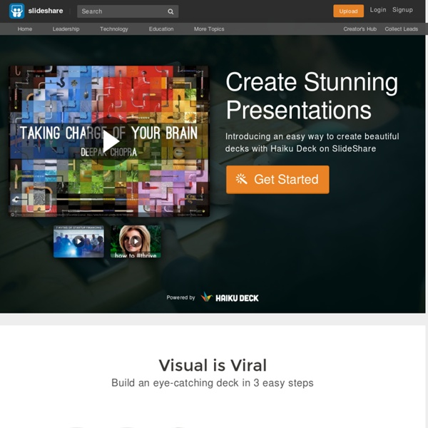 Create Presentations on SlideShare