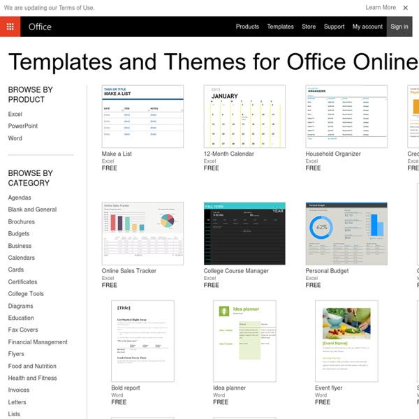 Templates - Presentations, Spreadsheets, Documents, Calendars & More