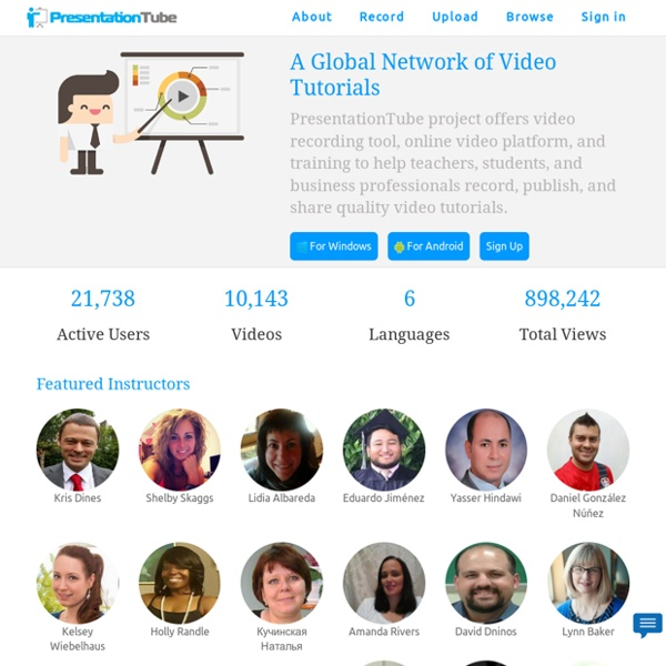 PresentationTube: Record & Share Online Video Presentations