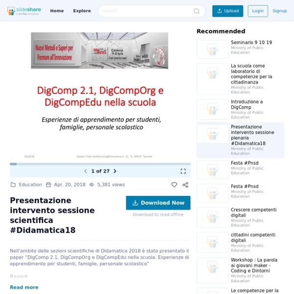 Presentazione intervento sessione scientifica #Didamatica18