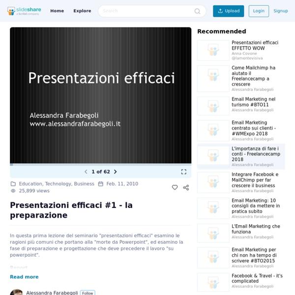 Presentazioni efficaci #1 - la preparazione