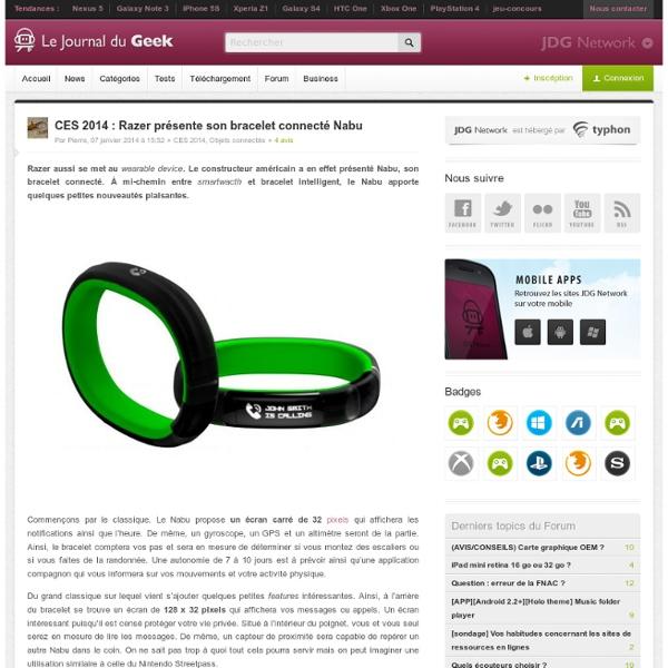CES 2014 : Razer présente son bracelet connecté Nabu
