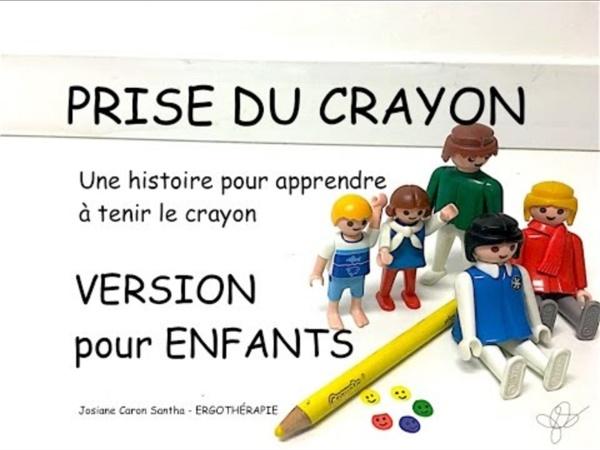 PRISE DU CRAYON 2: L'histoire de la voiture présentée aux enfants (ergothérapie)