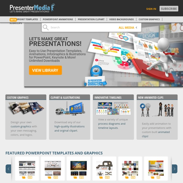 Presenter Media - PowerPoint Templates, 3D Animations, and Clipart for Presenters and Creative Professionals