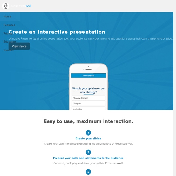 PresentersWall - e-voting app for presentations
