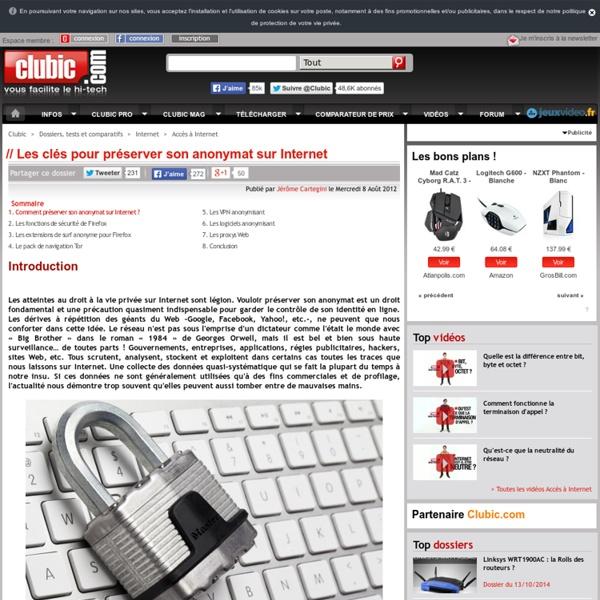 Les clés pour préserver son anonymat sur Internet