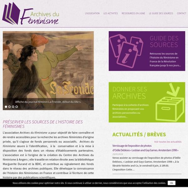 Préserver les sources de l'histoire des féminismes - Archives du Féminisme