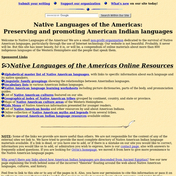 Native American Language Net: Preserving and promoting indigenous American Indian languages