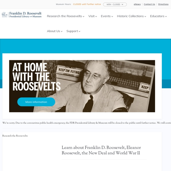 Franklin D. Roosevelt Presidential Library and Museum - Periodic Table of the New Deal