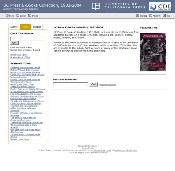 UC Press E-Books Collection, 1982-2004