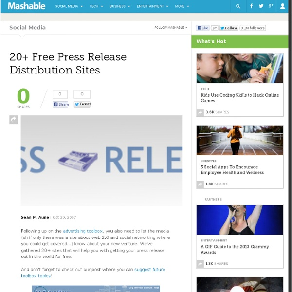 20+ Free Press Release Distribution Sites
