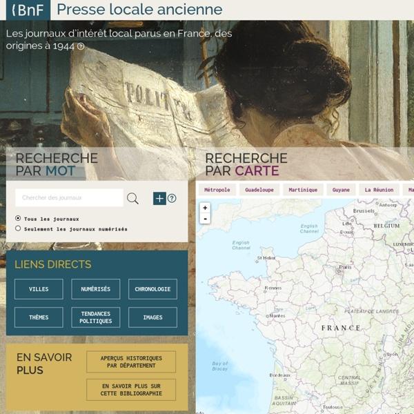 [PRESSE] BnF : Presse locale ancienne jusqu'en 1944