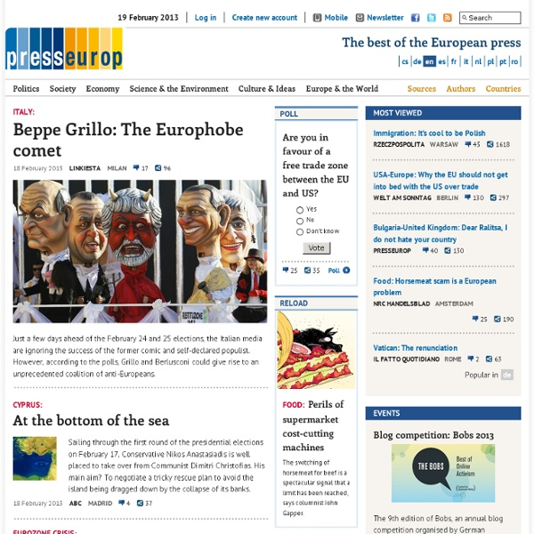 PressEurop European news and press reviews