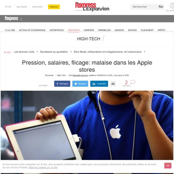 Pression, salaires, flicage: malaise dans les Apple stores
