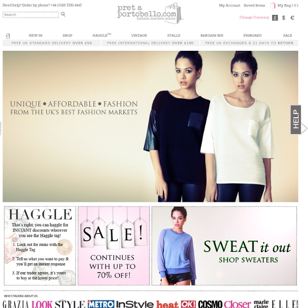 The fashion market on the net