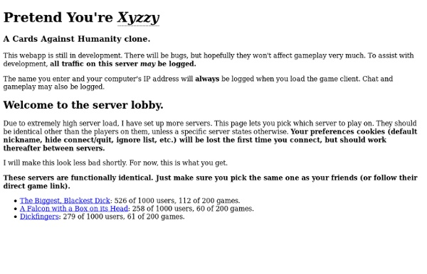 Pretend You Re Xyzzy How To Host