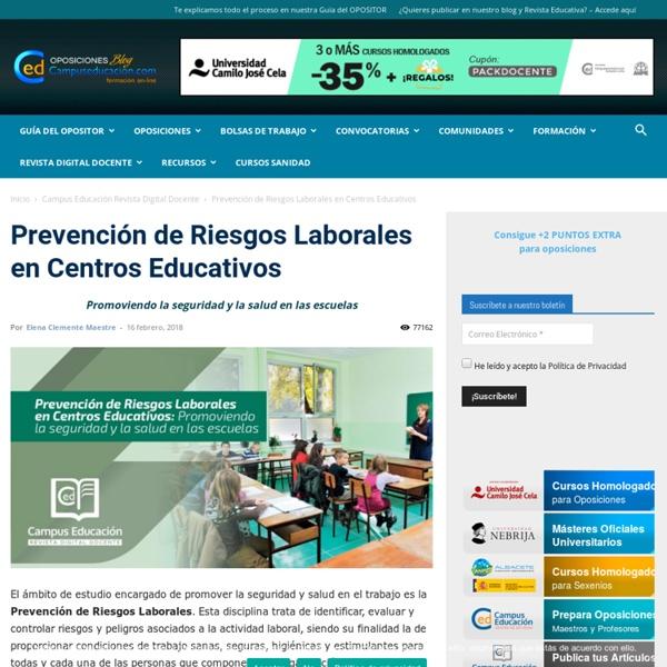Prevención de Riesgos Laborales en Centros Educativos
