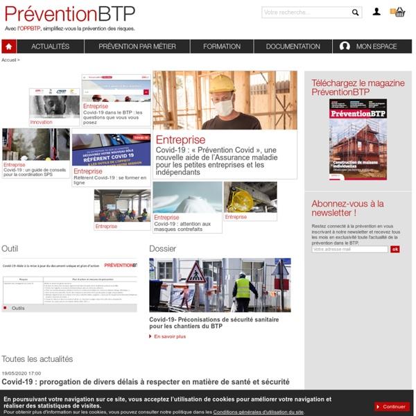 Acteur de la prévention: Prévention du risque professionnel dans le BTP - santé sécurité au travail
