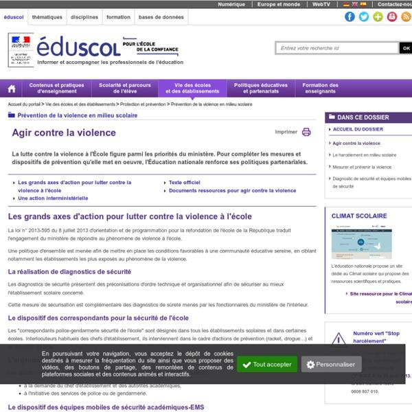 Prévention et action - Eduscol