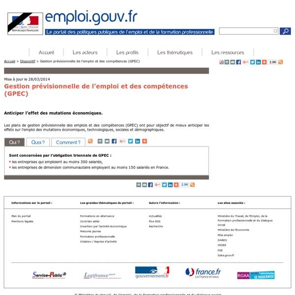 Gestion prévisionnelle de l'emploi et des compétences (GPEC)