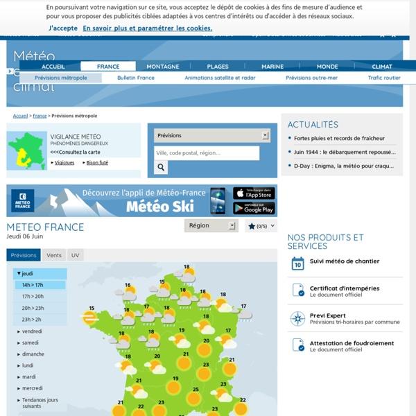 Météo-France (prévision sur 10 jours)