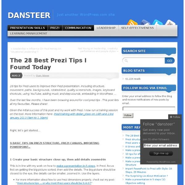 The Best Prezi Tips I Found Today