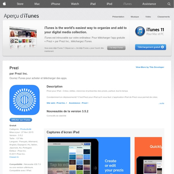 Prezi pour iPhone, iPod touch et iPad dans l'App Store sur iTunes