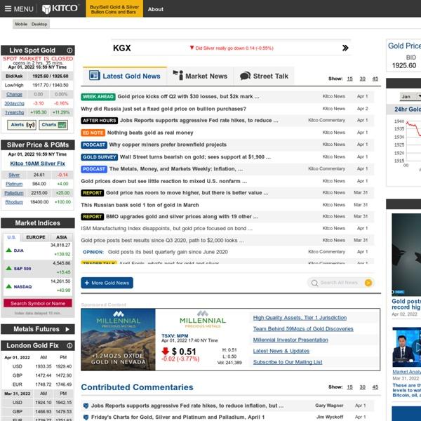 Kitco Live Market Quotes Stunning Kitco  Gold Precious Metals  Buy Gold Sell Gold Silver