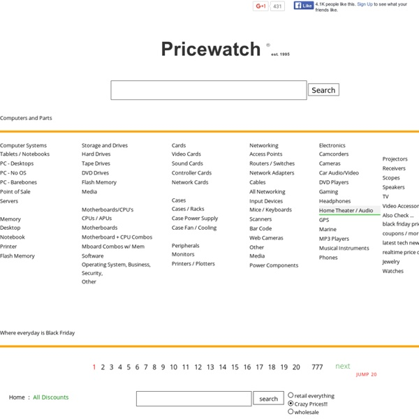 Pricewatch - Find the lowest prices before you buy. Make offers to sellers and possibly pay less