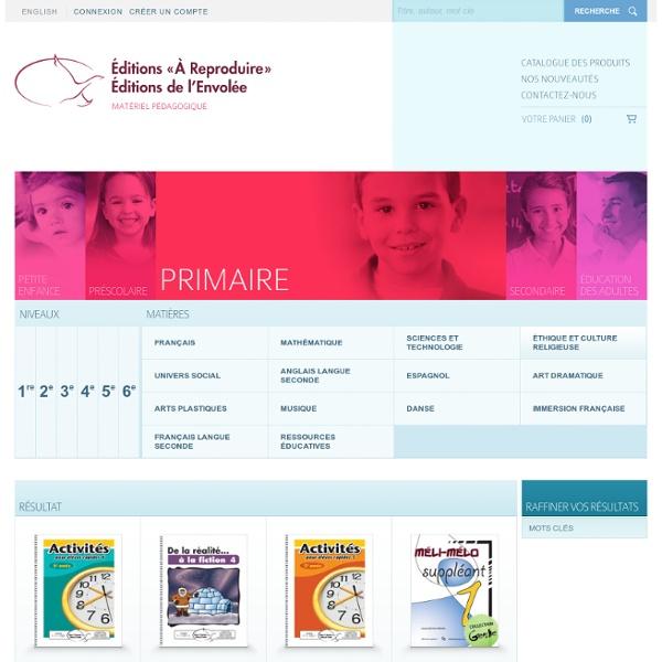 Primaire - Catalogue des produits