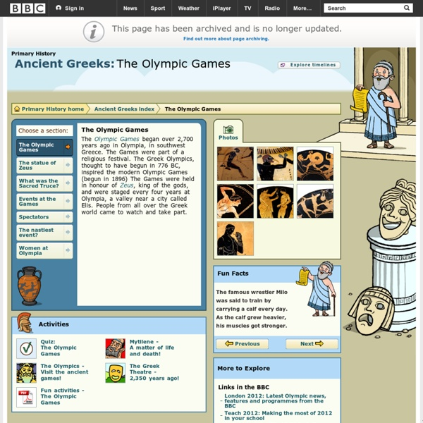 Primary History - Ancient Greeks - The Olympic Games