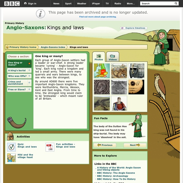 Primary History - Anglo-Saxons - Kings and laws