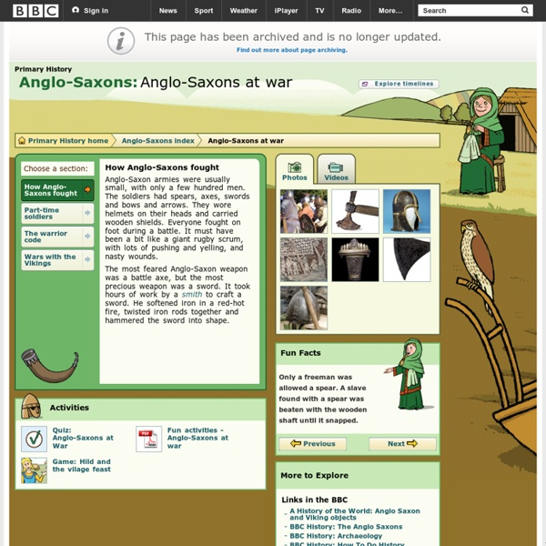 Primary History - Anglo-Saxons - Anglo-Saxons at war