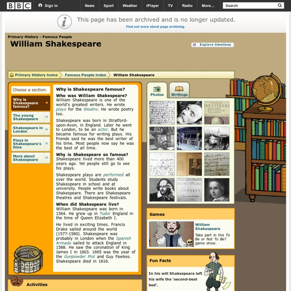 Primary History - Famous People - William Shakespeare