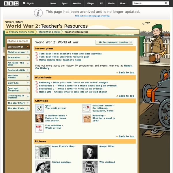 Primary History - World War 2 - World at war