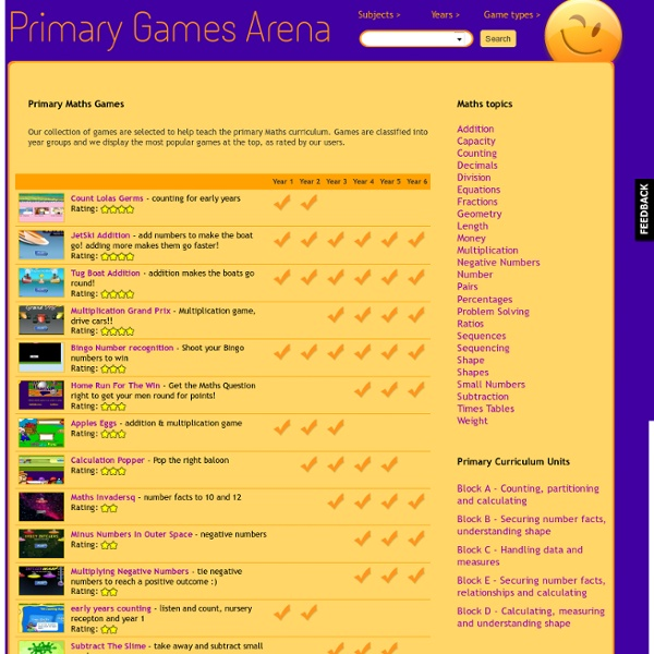 Primary Maths Games
